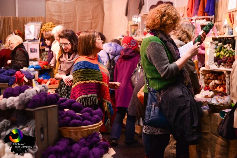 Edinburgh Yarn Festival, Corn Exchange 2015 - Foto di Katie Blair Matthews, Edinburgh Yarn Company ltd.