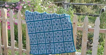 Fair Isle Tunisian Crochet Brenda Bourg uncinetto tunisino