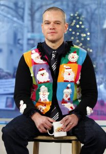 Matt Damon Ugly Christmas Sweater